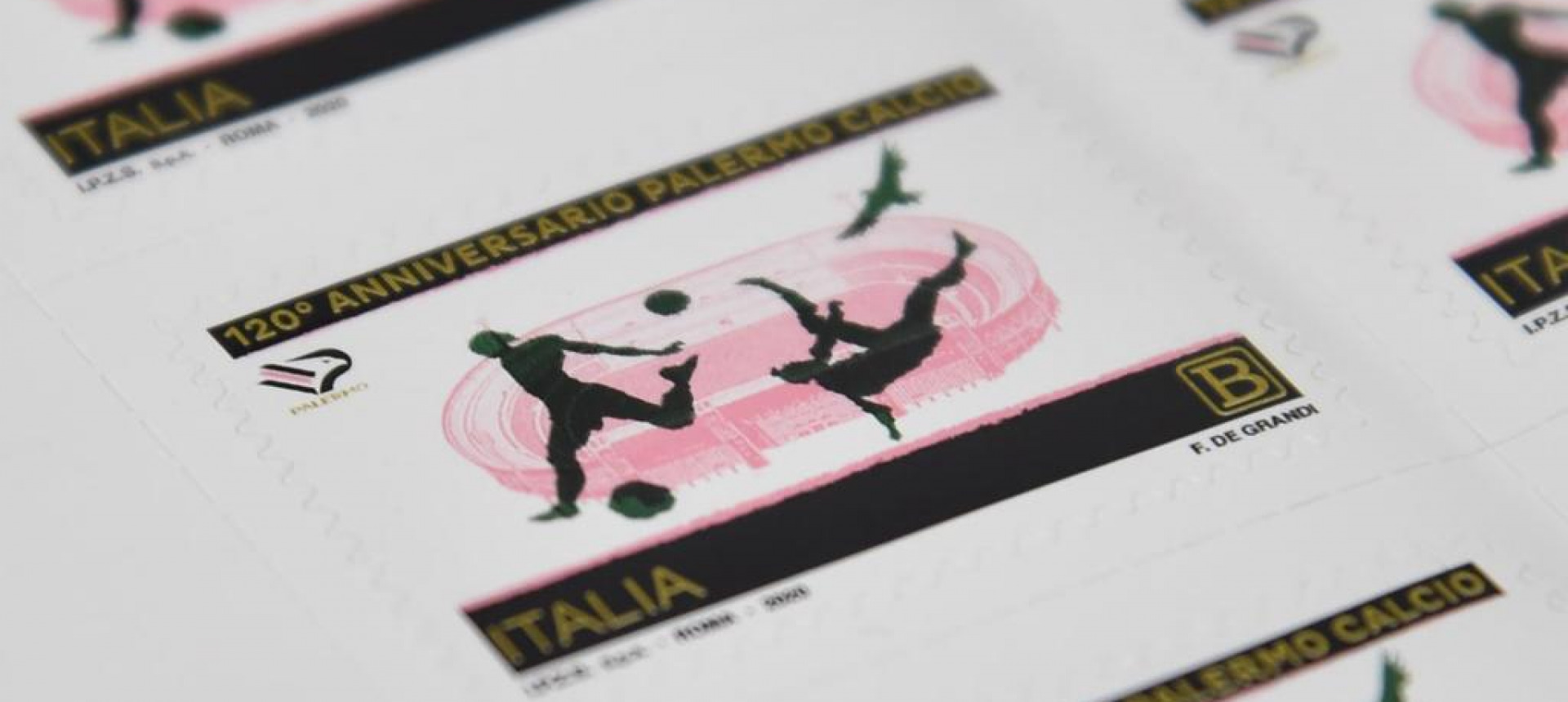 120 YEARS OF PALERMO F.C.: STAMP EMITTED FOR THE ANNIVERSARY OF THE FOUNDATION