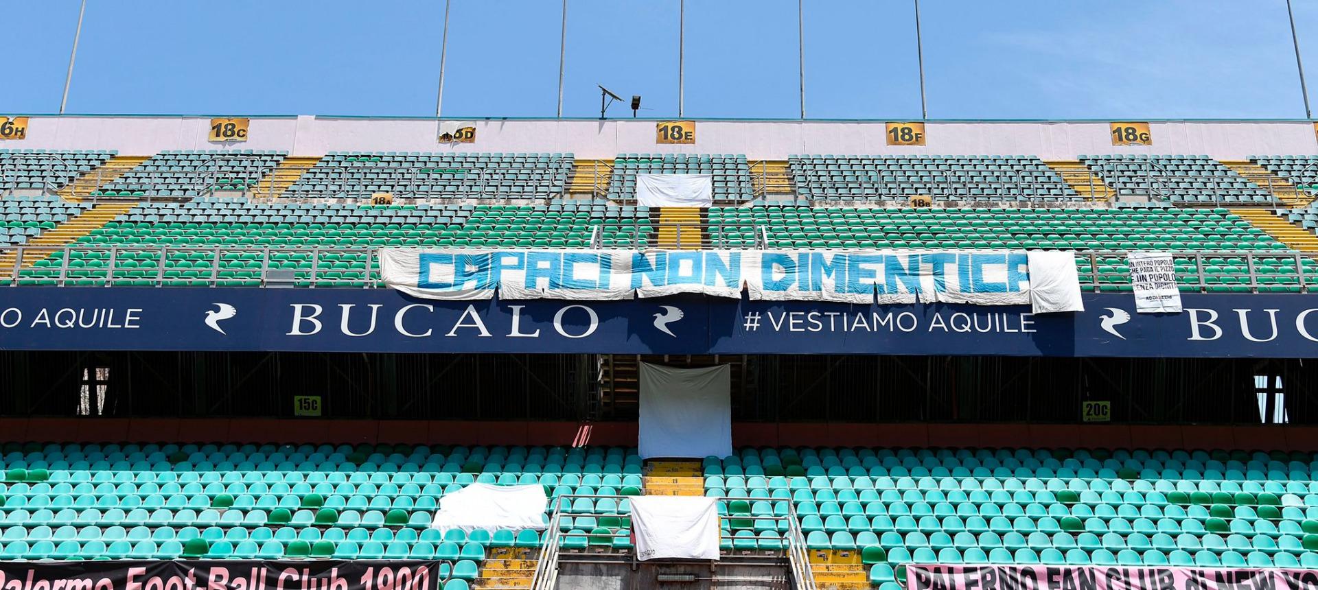 Palermo FC e Addiopizzo insieme: lenzuoli sugli spalti per commemorare la strage di Capaci