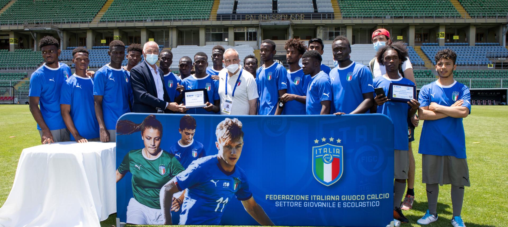 Al Barbera la finale del torneo Refugee Teams di FIGC