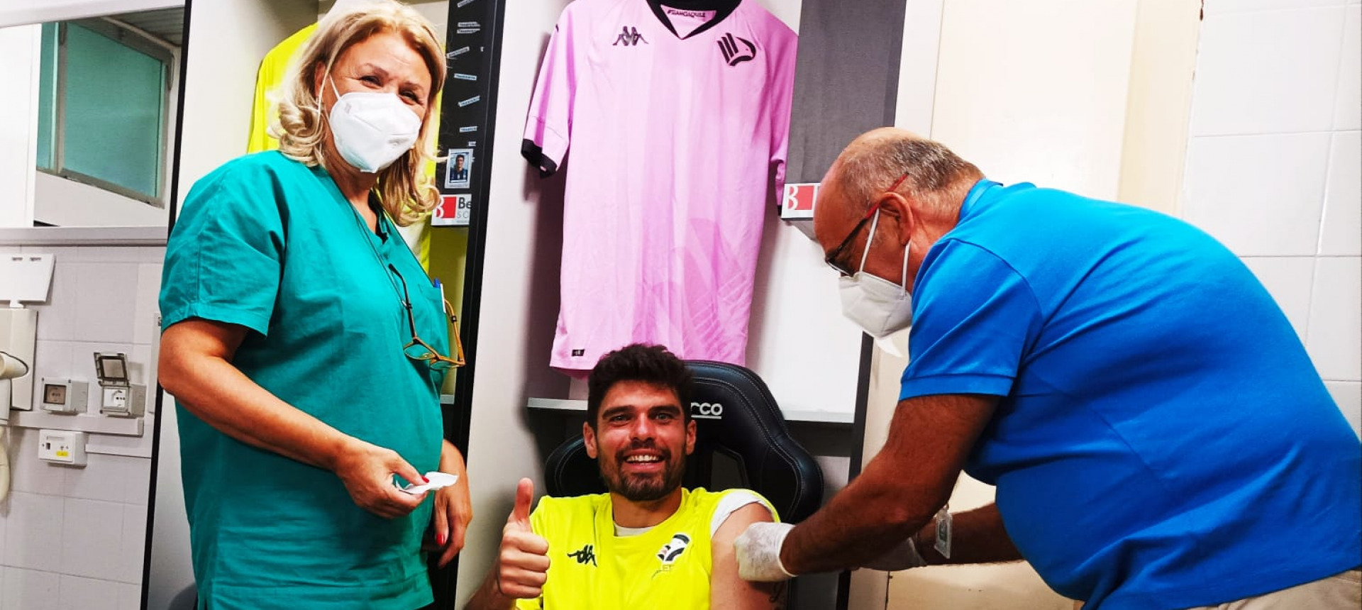 Completata la vaccinazione per giocatori e staff del Palermo
