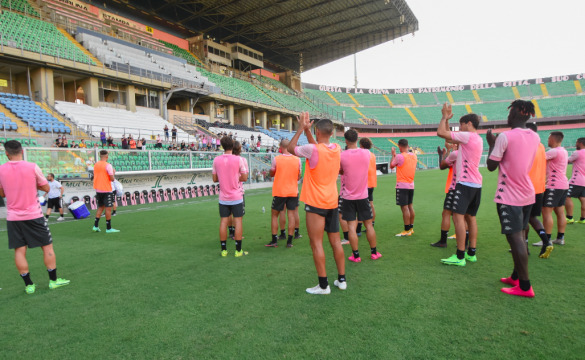 Training session at Barbera Stadium